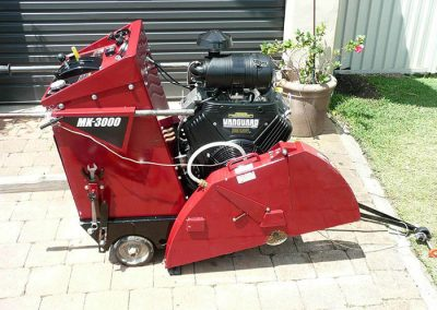 Cut It Out Concrete - New RoadSaw Machine Red